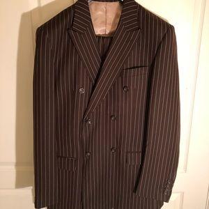 Men's pinstriped suit